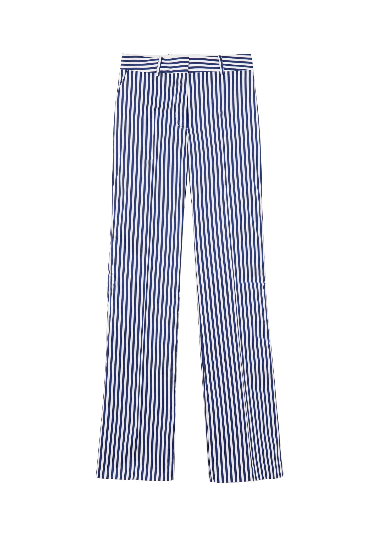 STRIPED STRAIGH-LEG PANTS