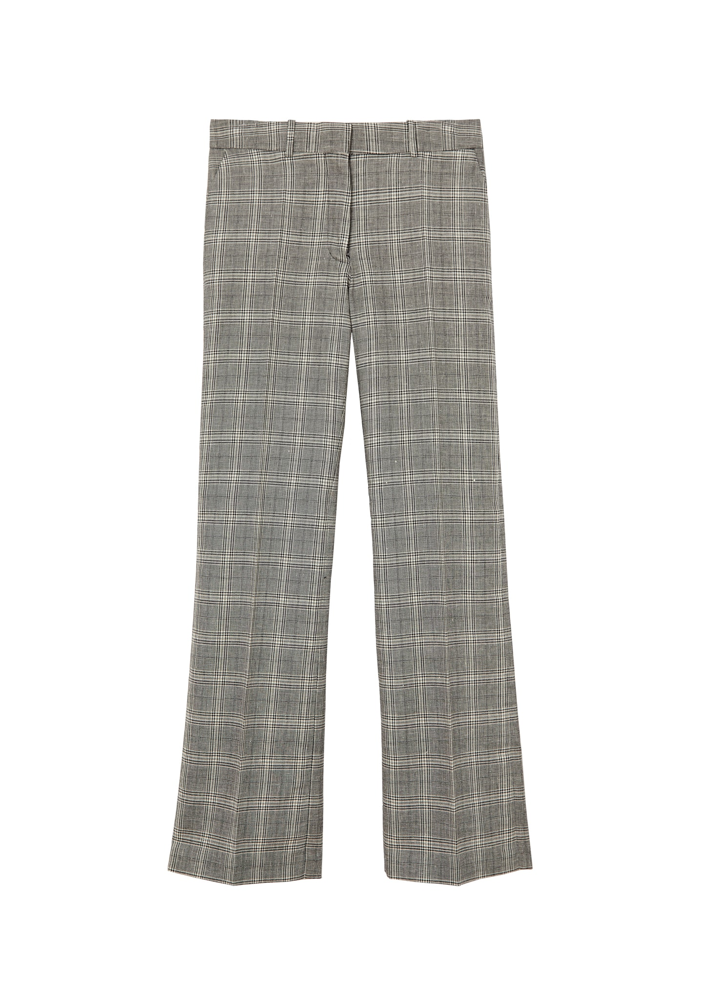 CHECKED STRAIGH-LEG PANTS