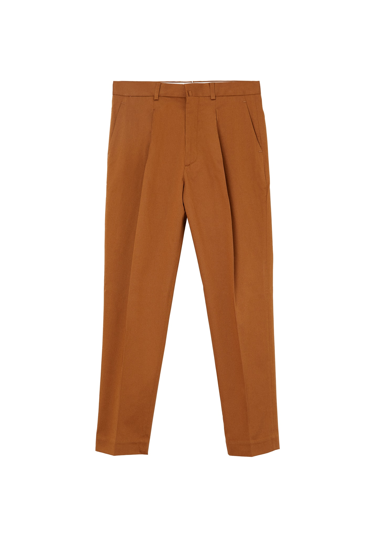 PLEATED COTTON TROUSERS