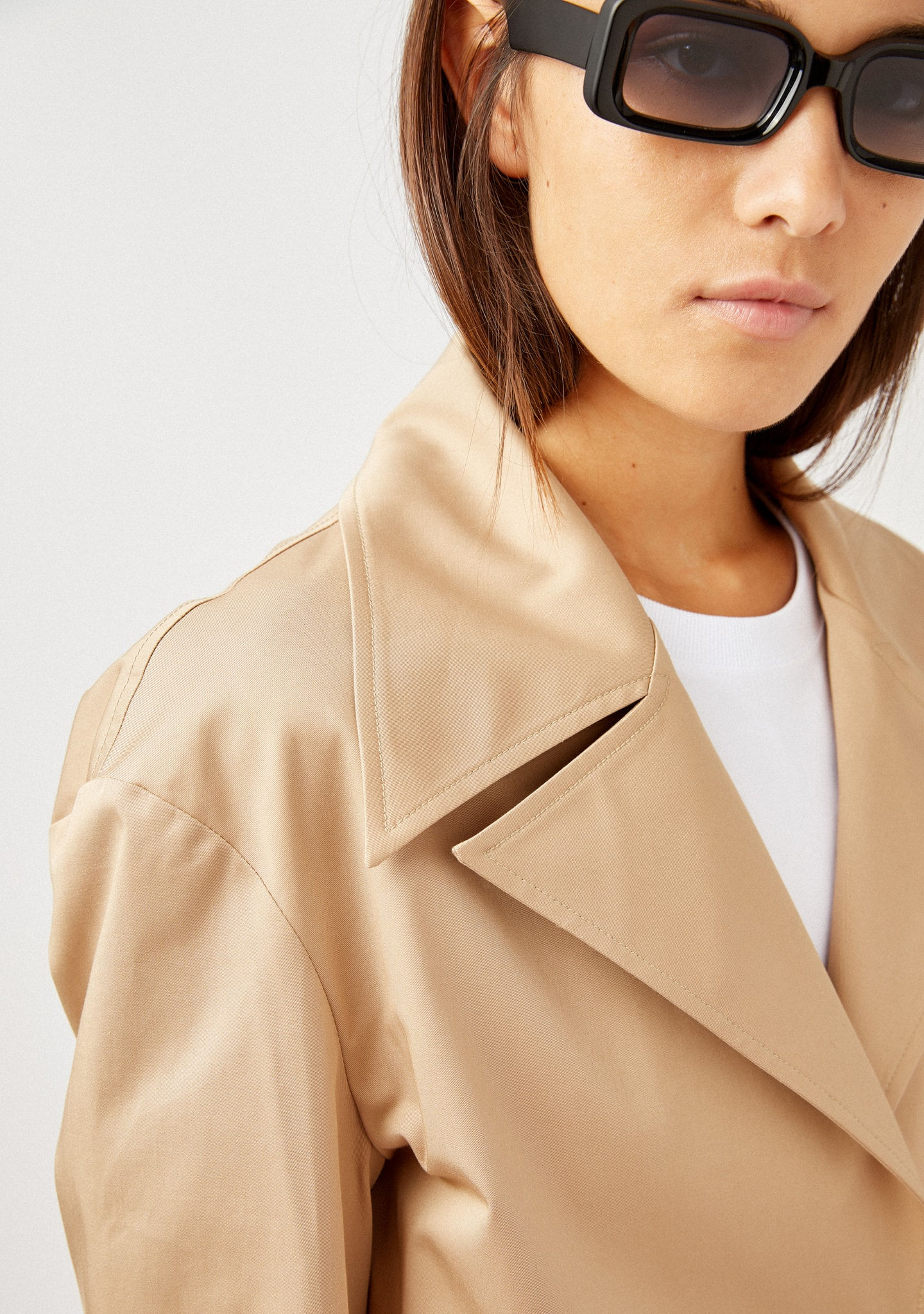 Gafas OVERSIZED CROPPED COTTON JACKET Color 0
