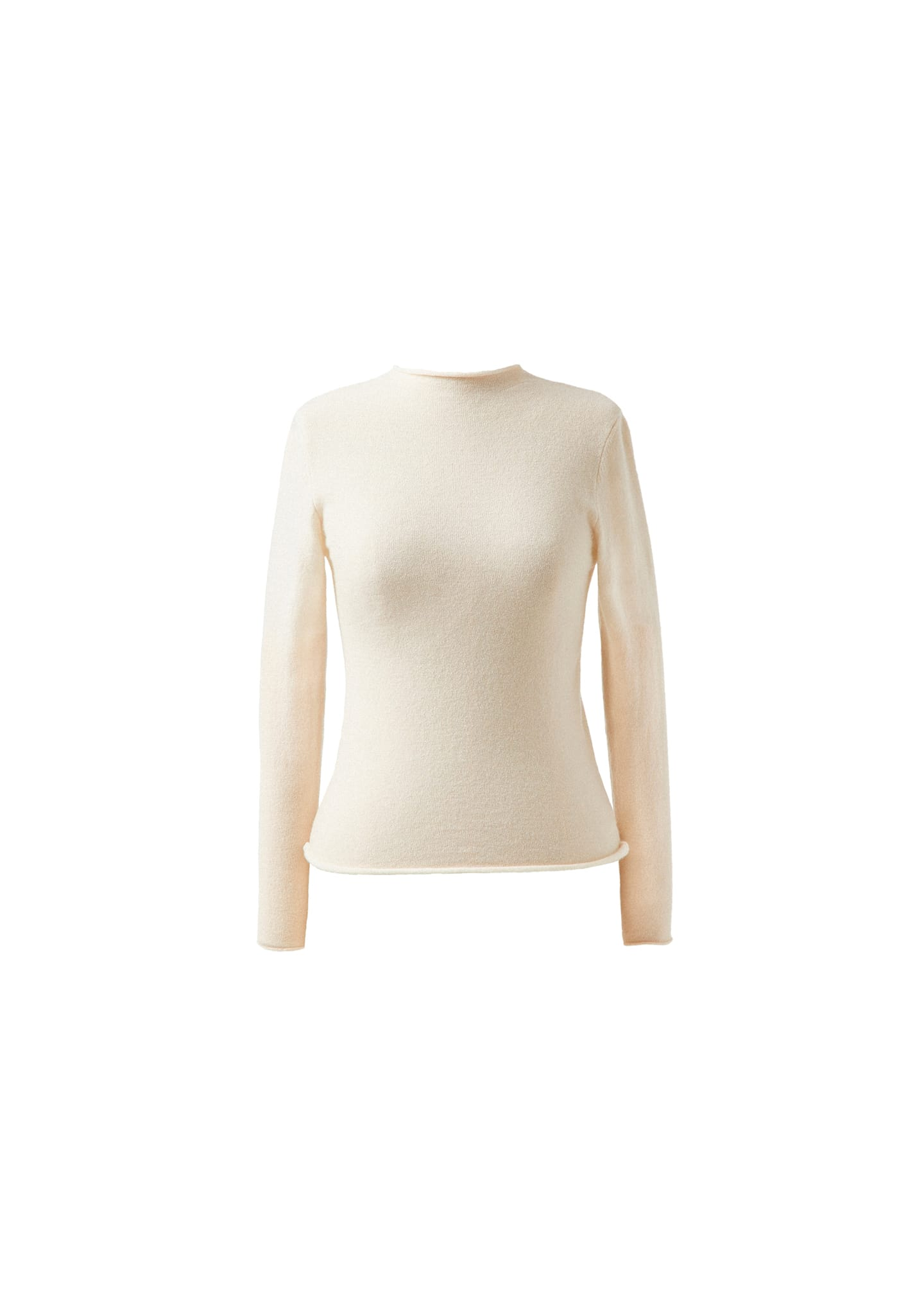 SLIM FIT WOOL-CASHMERE-SILK SWEATER