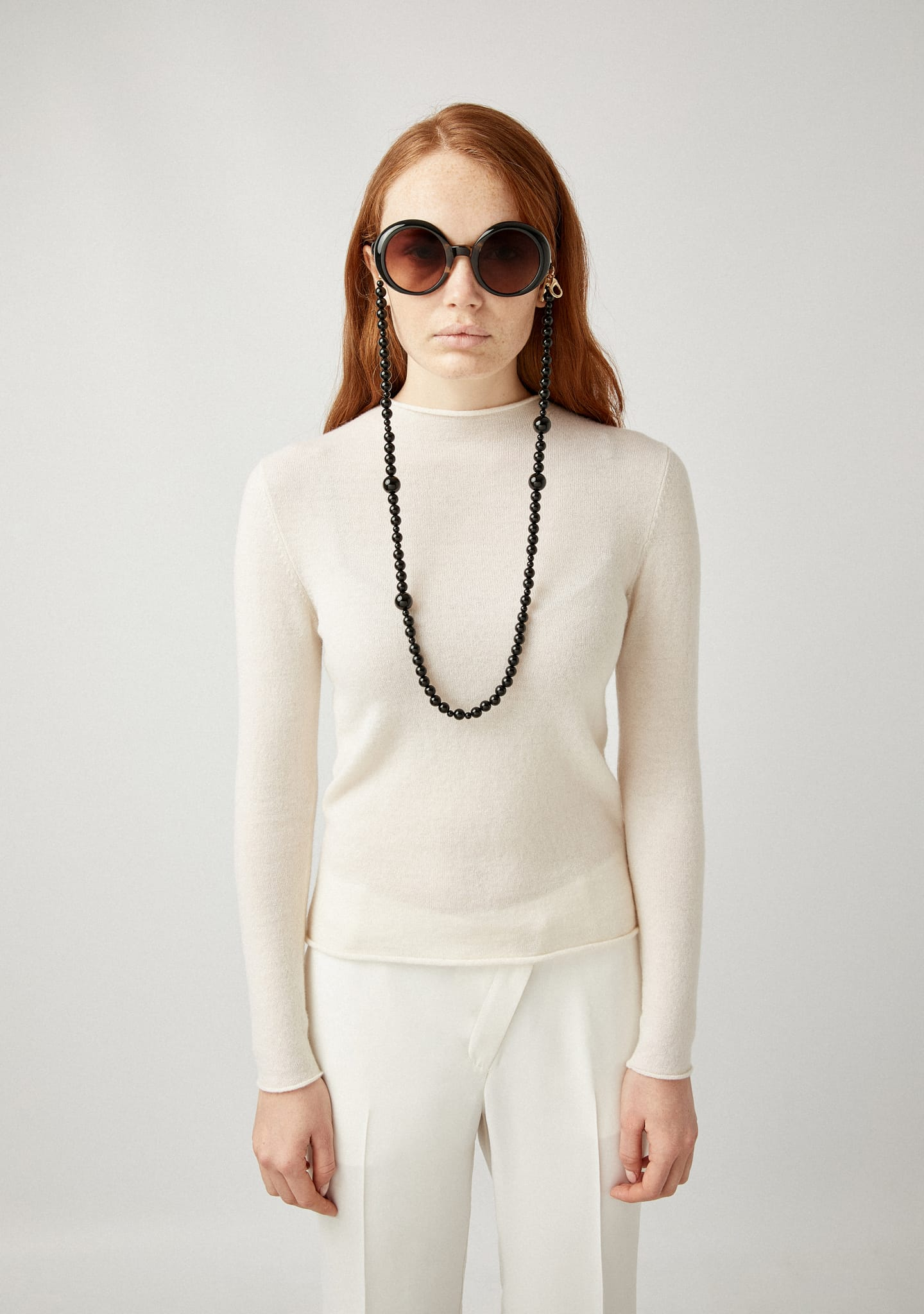 Gafas SLIM FIT WOOL-CASHMERE-SILK SWEATER Color 0