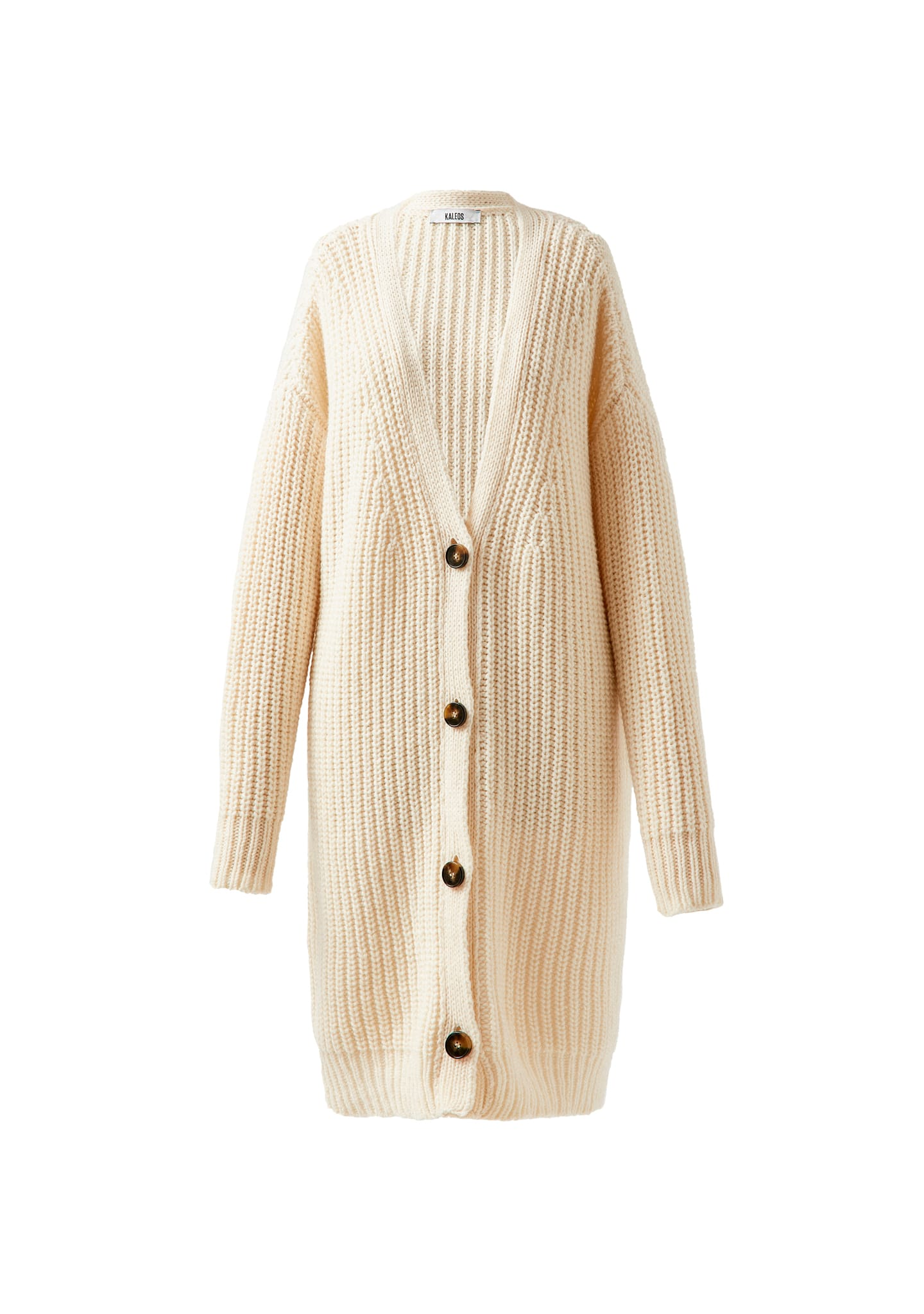 OVERSIZED RIBBED WOOL-CASHMERE CARDIGAN
