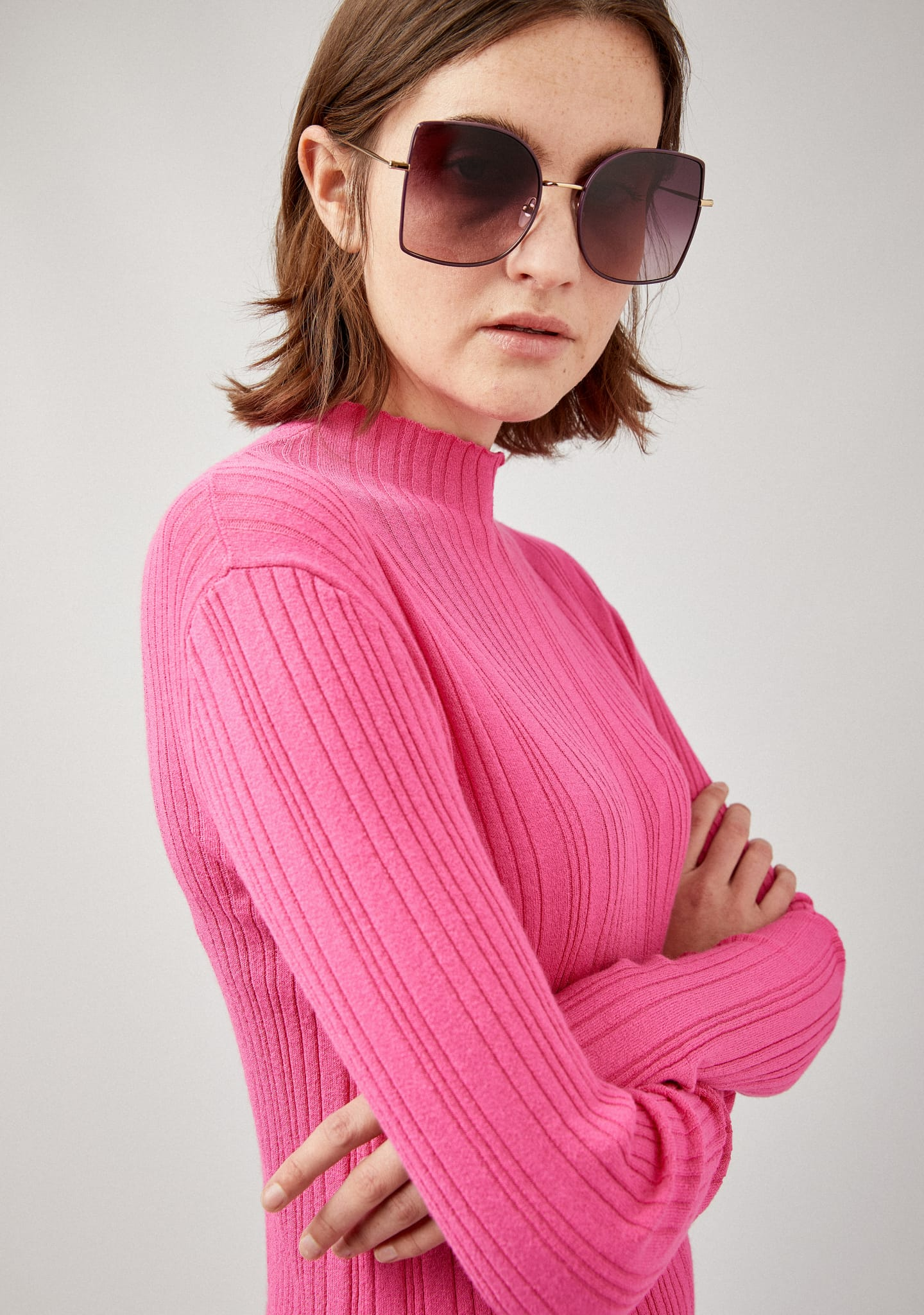 Gafas RIBBED-KNIT PERKINS NECK SWEATER Color 0