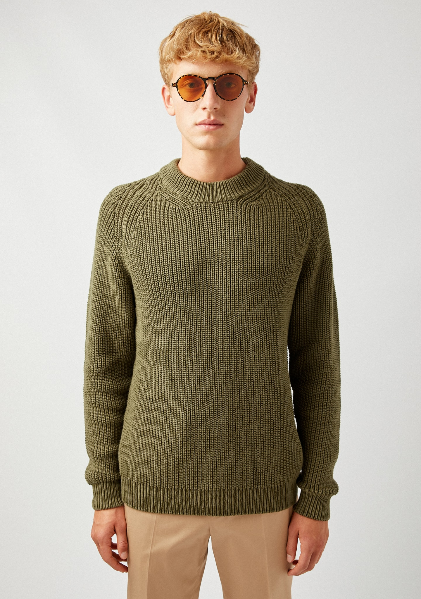 Gafas RIBBED COTTON SWEATER Color 0