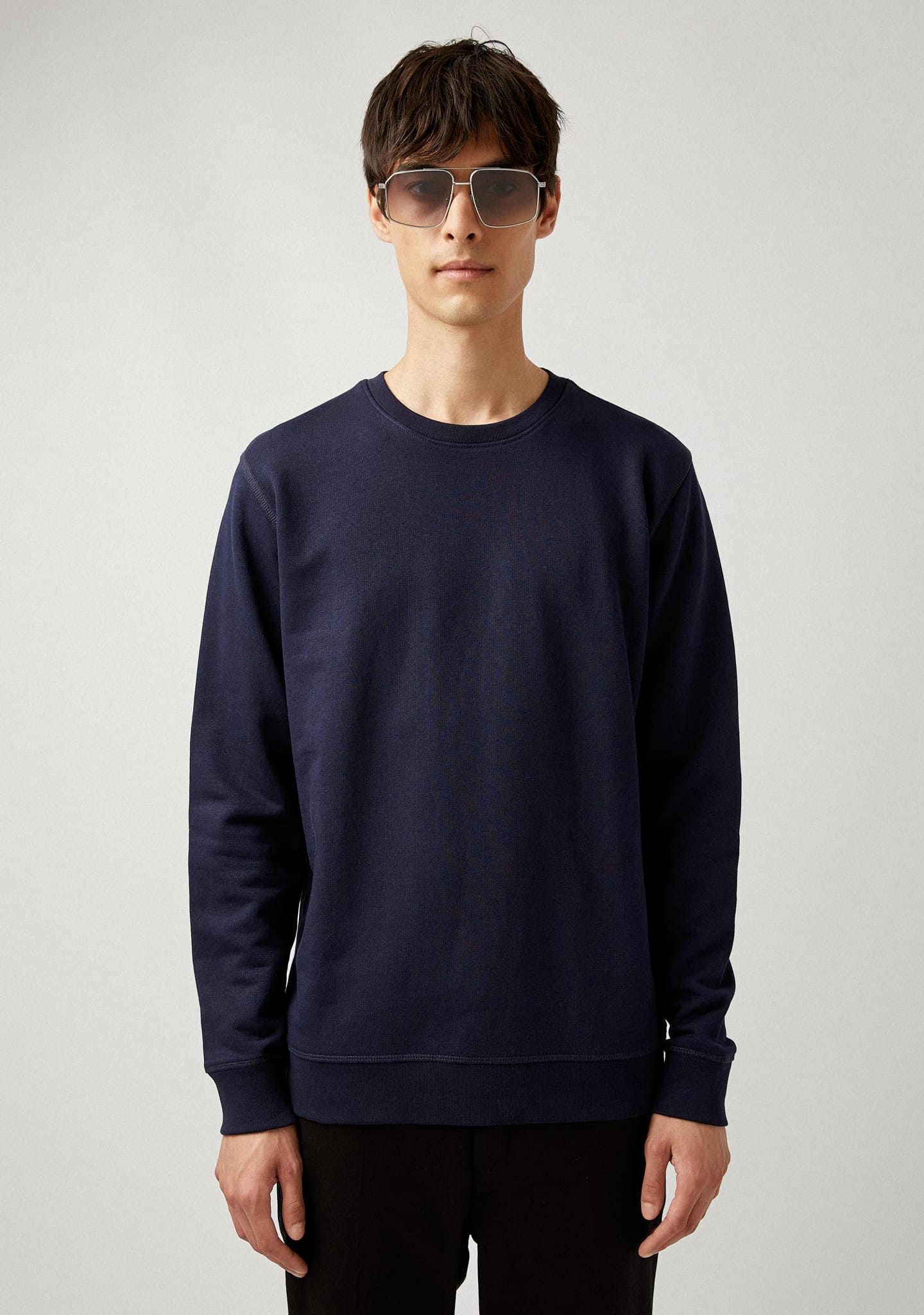 Gafas THIN COTTON-JERSEY SWEATSHIRT Color 0