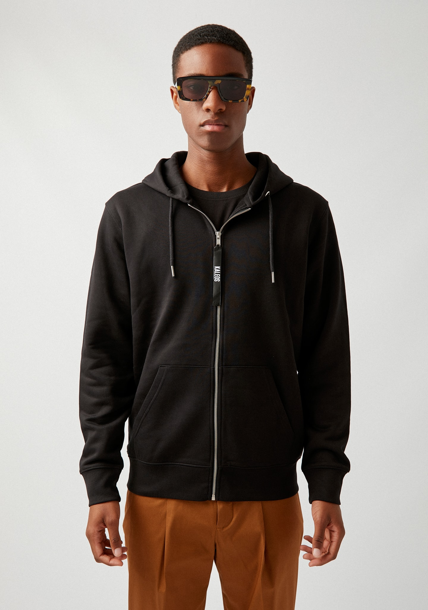 Gafas COTTON-JERSEY ZIP-UP HOODIE Color 0