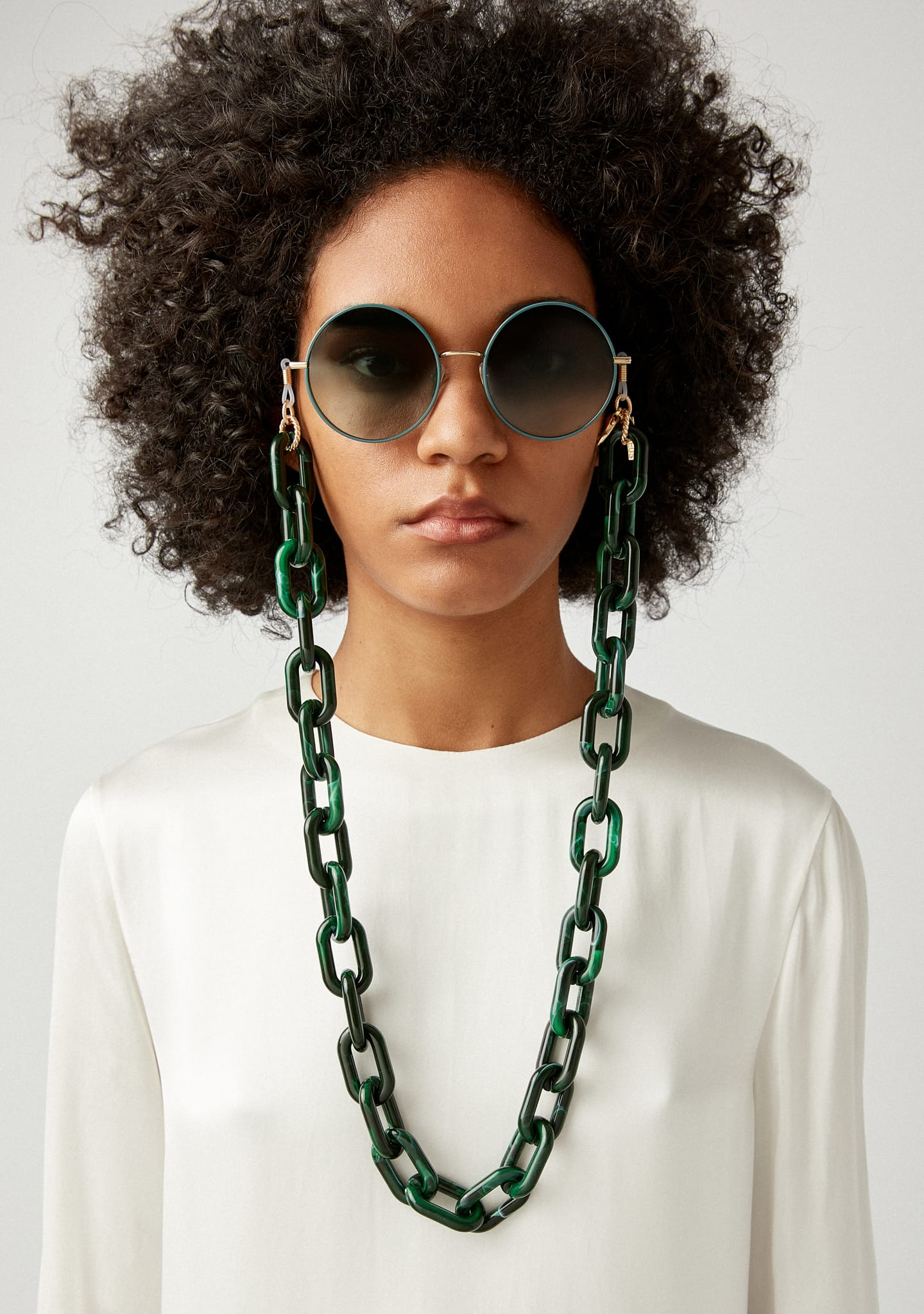 Gafas SQUARE RESIN CHAIN Color 3